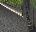 K� Bogen Fassadenentw�sserung mit LED Beleuchtung